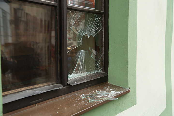 A2B Glass are able to board up broken windows while they are being repaired in Harold Wood.